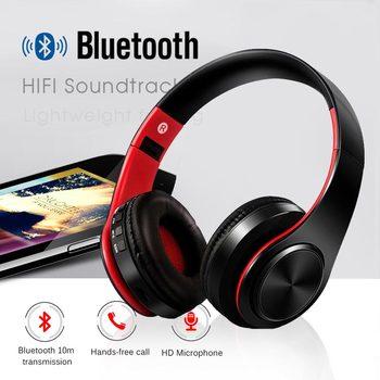 YEINDBOO Cabeça Dobráveis Fones De Ouvido Bluetooth Sem Fio Fones De Ouvido de Música Do Telefone PC Fone de Ouvido Com Microfone Para PC Telefone Mp3