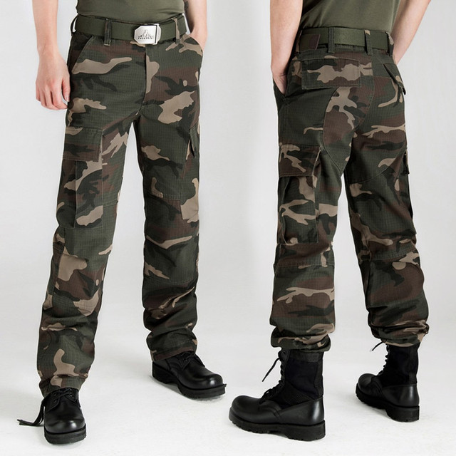 839f4862c11 Plus Size 28-44 Men s Cargo Pants Millitary Tactical Army Cargo Camo Combat  Pants Multi-Pockets Camouflage Casual Full Length