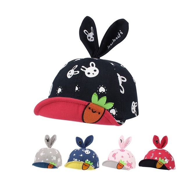 c6e3c54e5b4 Cute Rabbit Baby Cap Cotton Carrot Soft Baby Hat Fashion Kids Sun Cap For Boys  Cartoon Infant Hat With Ears Baby Girls Clothing