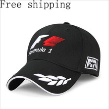 Black Racing Cap Formula 1 Embroidered Letters Wheat F1 Formula Golf Cap Snapback Baseball Cap Casquette Outdoor Sports Polo Hat