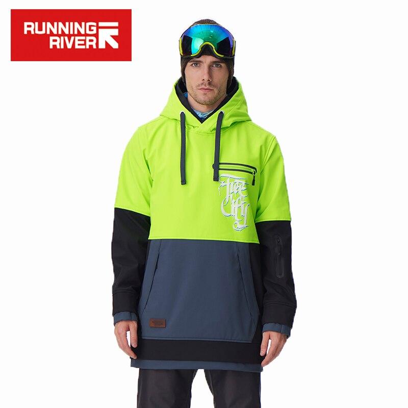 Prix pour Running river marque hommes snowboard à capuche 2017 de haute qualité à capuchon sport snowboard veste 5 couleurs 3 tailles # g6225