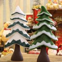 50cm Christmas Tree Cloth And Foam Gift Xmas Trees Ornament Window Display Supplies Creative Festival Decorative