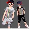 Niño Niños Ropa Casual Vetement Enfant Garcon Muchacho de La Manera Ropa de Chicos Cool Hip Hop Ropa de Deporte Traje