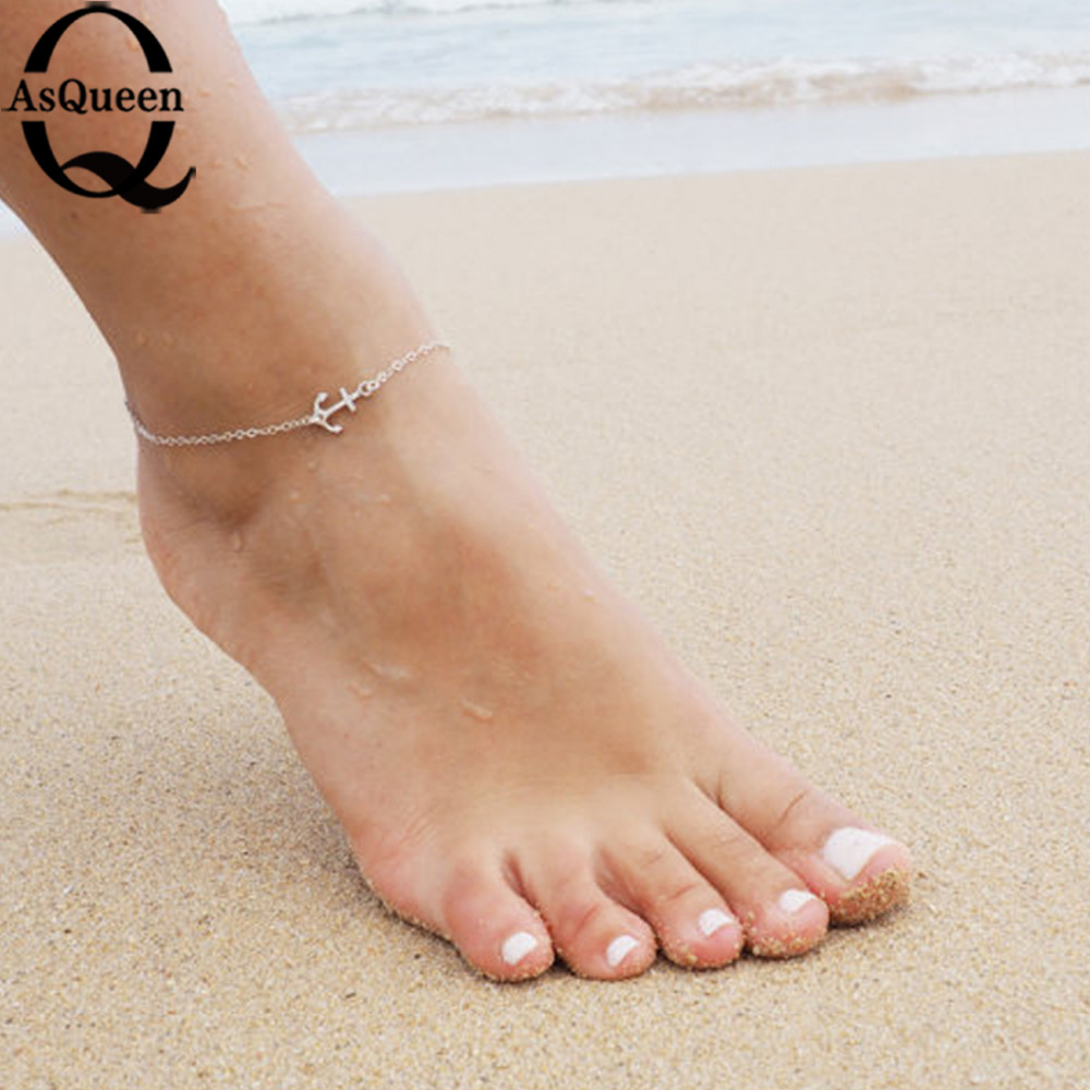 sexy anchor gold silver plated ankle chain anklets bracelet new charm anklet for women vintage. Black Bedroom Furniture Sets. Home Design Ideas
