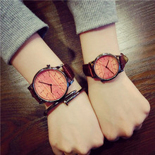 New Fashion Vintage Classic Genuine Leather Quartz Wrist Watch Wristwatches for Men Women Unisex Students OP001