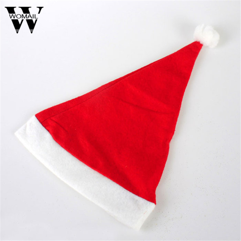1 Pcs Christmas Santa Hat Red Hats For Christmas Decoration&Santa Claus Costume Christmas Party Supplies inflatable cartoon customized advertising giant christmas inflatable santa claus for christmas outdoor decoration