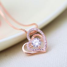 Women's dazzling jewelry wholesale rose gold pendant foreign trade hot micro-zigzag gold pendant(China)