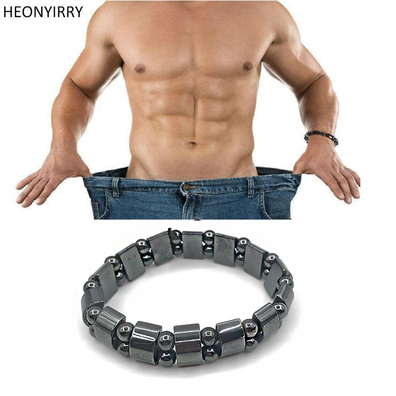 Weight Loss Black Stone Magnetic Therapy Bracelet Health Care Biomagnetism Magnet Reduce Weight Slimming Hand Ornament Men Women