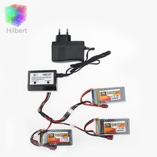 3pcs LiPo Battery 11.1V 1500Mah 3S 40C MAX 60C T Plug and charger For RC Car Airplane trucks buggy boats Helicopter
