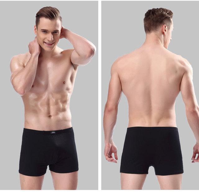 5 pcs/lot Man Panties Breathable Underpants Male Boxer Soft Undershorts