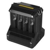 Nitecore i8 carregador inteligente 8 entalhes total 4a saída carregador inteligente para imr18650 16340 10440 aa aaa 14500 26650 e dispositivo usb|charger 8|charger for|charger intelligent -