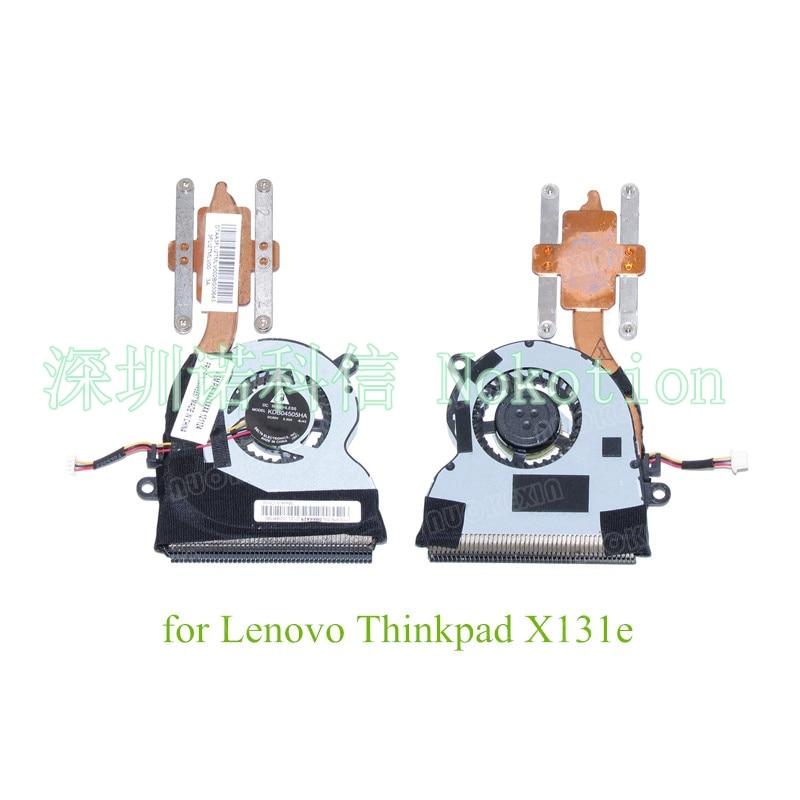 Heatsink  For Lenovo Thinkpad X131e CPU Cooling Fan 04W6857 100%test genuine for lenovo thinkpad e550 cpu cooling fan heatsink 00ht550