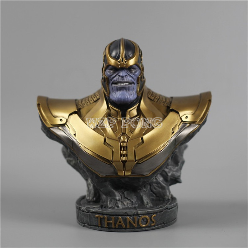 3 Colour 18 CM Resin Bust Thanos Model Avengers 3 Infinity War - Part I /II Collection Statue Thanos Action Figure thanos