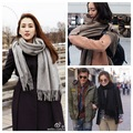 Nuevo otoño y el invierno el viento cos pura imitación de la cachemira bufanda bufanda masculina damas pimientos yang mi con grueso chal