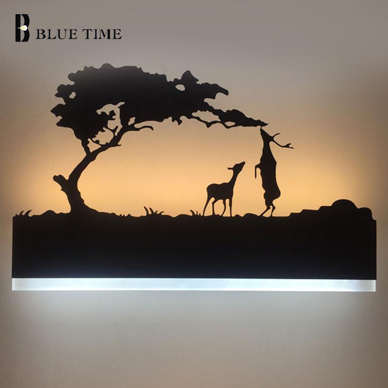 Black Acrylic Modern LED Wall Light For Living room Bedroom Bedside room Bathroom 12W Sconce Led Wall Lamp Wandlamp AC110V 220V