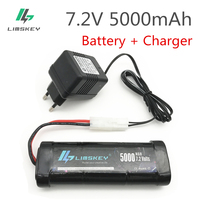 Limskey 7.2V 5000mAh Ni MH Battery Pack Tamiya Plug With Charger High Capacity SC*6 Cells for RC Control Car Toys Battery