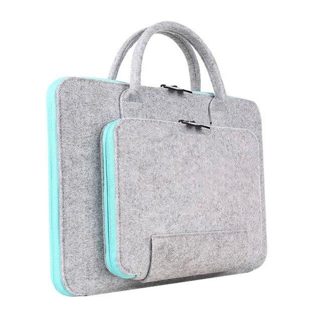 11 13 14 15.6 17.3 pouces Super léger solide laine feutre ordinateur portable sac à main pour MacBook Lenovo Dell HP Asus ordinateur sac hommes femmes