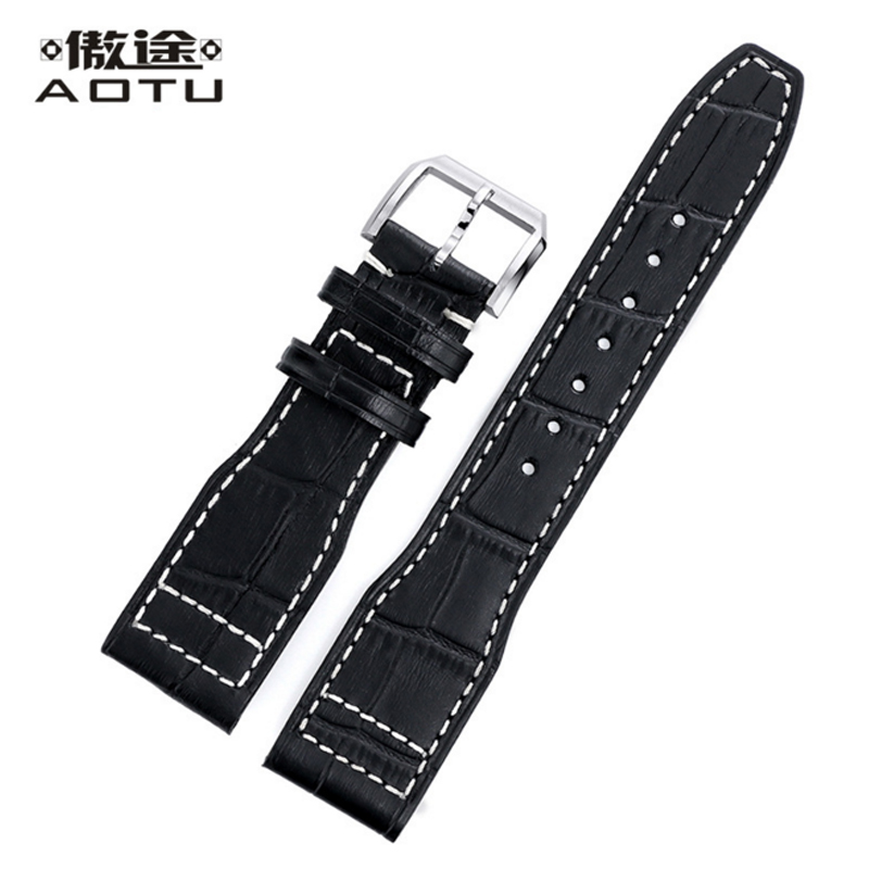 лучшая цена Genuine Leather Watchbands For IWC PILOT PORTUGUESE Men Watches Band 22MM Vintage Watch Strap Top Brand Male Correas Para Reloj