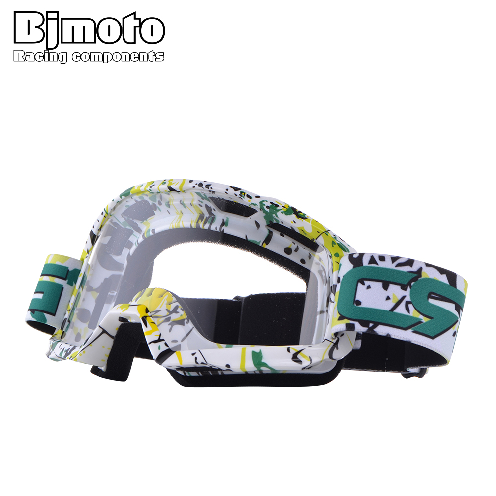 BJMOTO Transparent Lens Sport Racing Goggle Off Road Oculos Lunette Motocross Goggles Motorcycle Dirt Bike Glasses