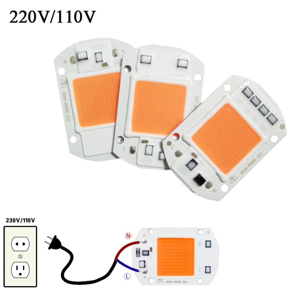 LED Grip Light Chip Hydroponice AC 220V 20W 30W 50W طیف کامل 380nm-840nm برای روشنایی داخلی