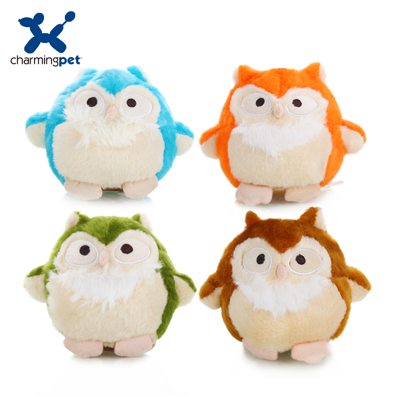 Charmingpet pet dog toys Owl  pet training Squeak Toys-in Dog Toys from Home & Garden