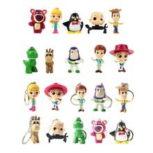 Porte-clés Toy Story 4 figurines, 5cm, 10 pièces, Woody Buzz l'éclair, Jessie Rex, dinosaure, Andy weezy Bullseye, cheval, Lotso, ours, jouets pour bébé
