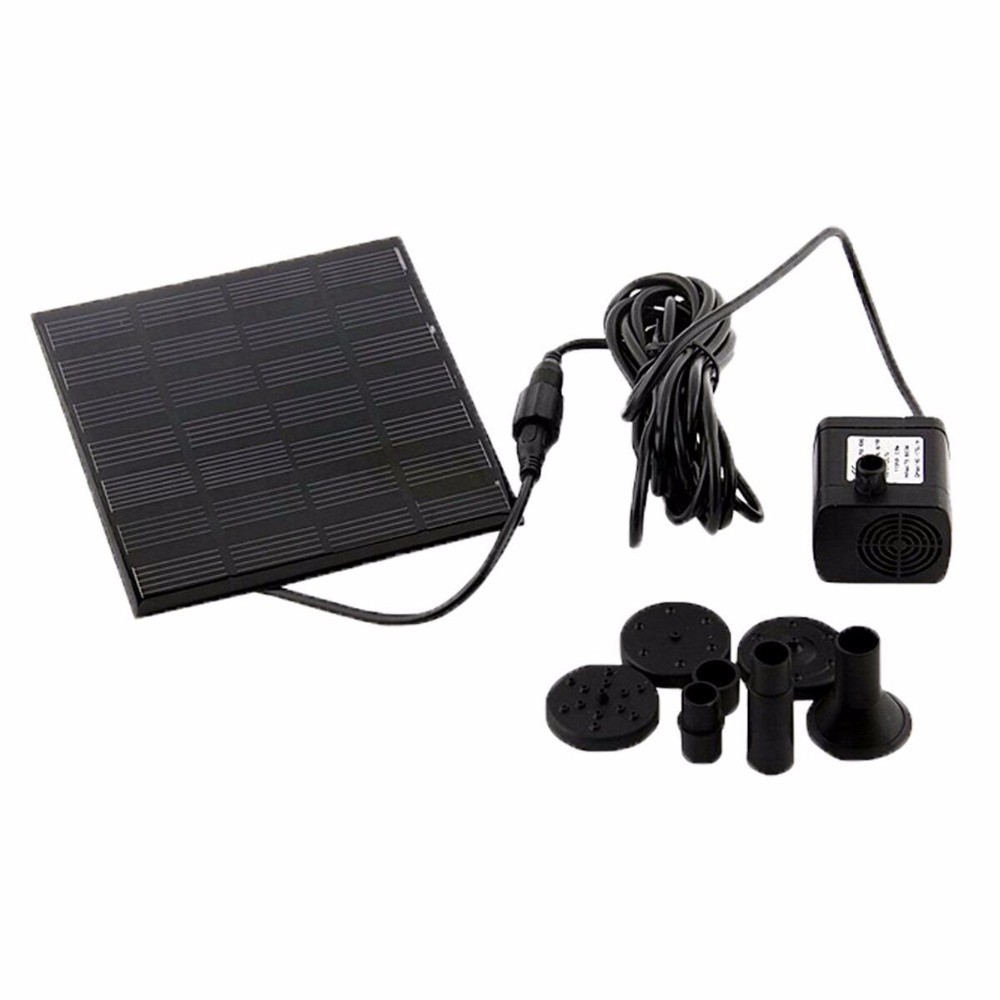 New Arrival Brushless DC Solar Water Pump Power Panel Kit Fountain Pool Garden Watering Pumb Plants Watering Power Fountain Pool