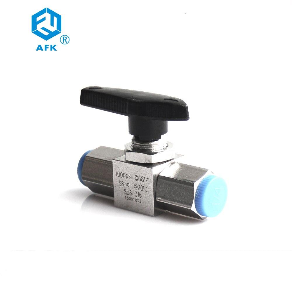 "FxF Female to Female NPT 316 Mini Ball Valve 1//2/"" inch Stainless Steel"