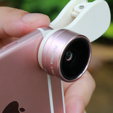 FUNIPICA 3 in 1 Phone Lens 0.36X Wide Angle ,15X Macro and 180 Degree Fisheye lens for iPhone Samsung Smartphones Mobile Phone