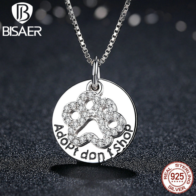 Bisaer collares real 925 sterling silver adopt dont shop simple bisaer collares real 925 sterling silver adopt dont shop simple letter necklaces pendants mozeypictures Choice Image