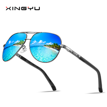 Men Vintage Aluminum Polarized Sunglasses Classic Brand Sun glasses Coating Lens Driving Shades For Men/Wome