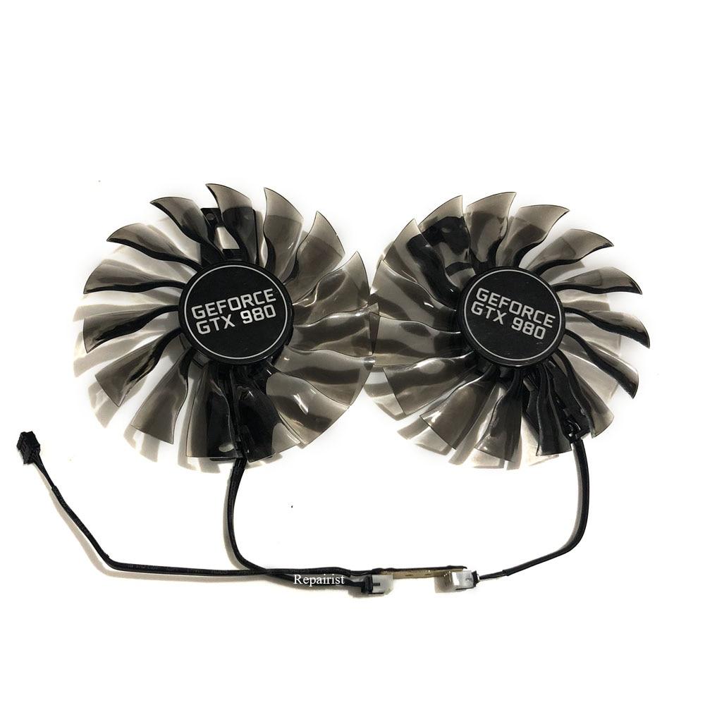 2 pçs/set 95mm GAA8S2H GTX 980 GTX1080 GTX1070 Alternativa GPU VGA Cooler Fan Para Palit GTX980 Termos Gráficos VGA Placa de Substituição