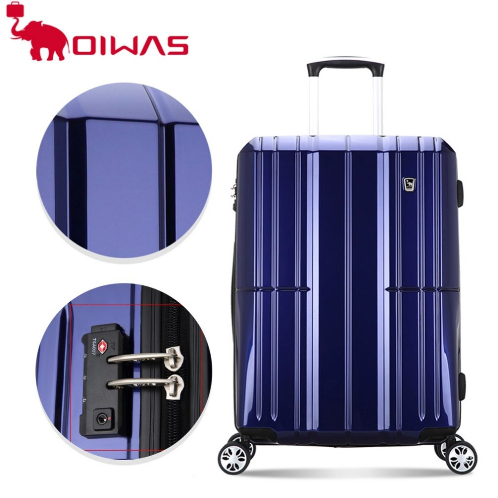 OIWAS 20 inch 40L Rolling Luggage Case Travel Trip Business Waterproof Spinner Wheel Trolley Large Capacity Coded lock Suitcase oiwas top brand suitcase rolling luggage bag trolley 24 inch maletas spinner wheel customs lock business travel large capacity