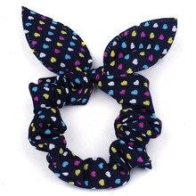 цены на Cute Kids Children Bowknot Hair Scrunchies Rabbit Ear Dot Rubber Hair Rope Bands Accessories For Women Girls 10pcs/lot  в интернет-магазинах