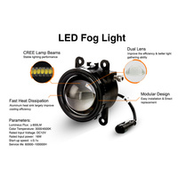 For Ford Nissan 2012 2015 Car 16W LED DRL Dual Lens Front Fog Lamp Driving