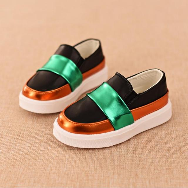 new elegant  fashion kid leather shoes picthing solid flat shoes for 3-12yrs children kids teenager outdoor shoes hot sale