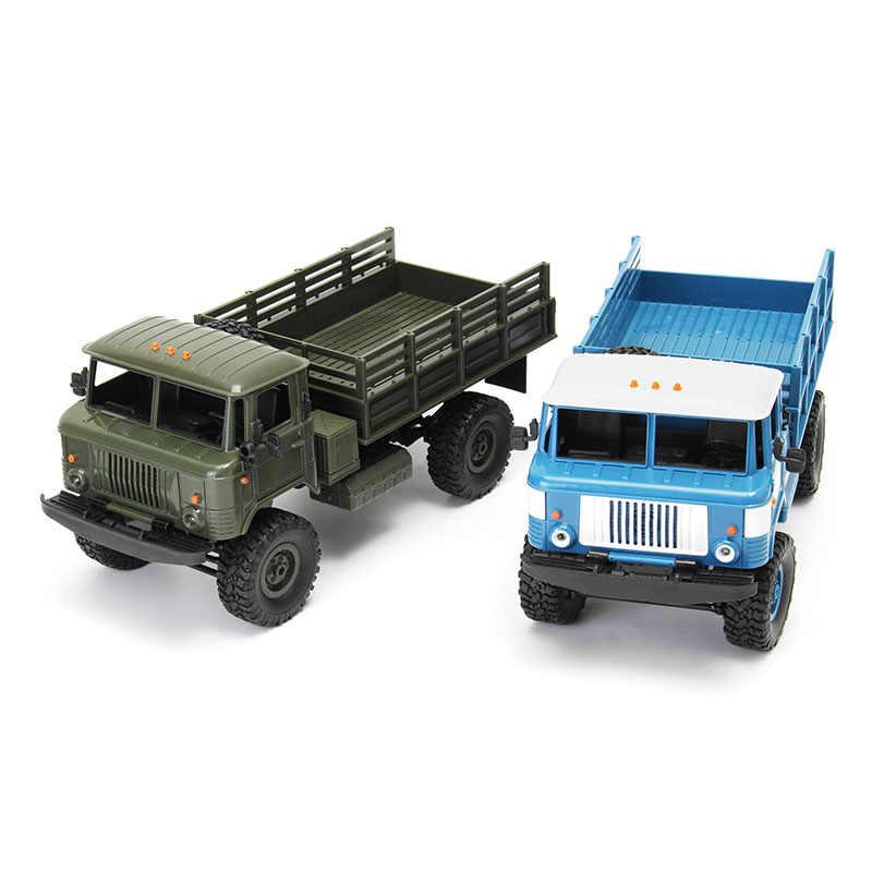 Brand New WPL WPLB-24 1/16 RTR 4 WD RC Militaire Truck 2.4 GHZ VS WLtoys Voor Kinderen Geschenken Verjaardagscadeau gift RC Modellen