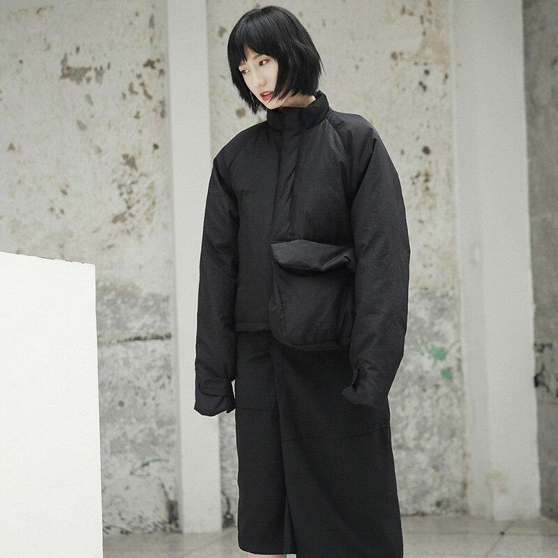 Manteau Chaud Poche Taille Femmes Printemps Black Montant De Grande Ji51 Point Coton Unique Veste rembourré Noir Nouveau Col eam2019 Mode wTiuPXZOkl
