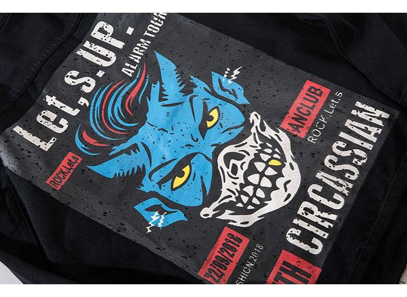 Topdudes.com - Let,s.Up. Alarm Tour Denim Jacket