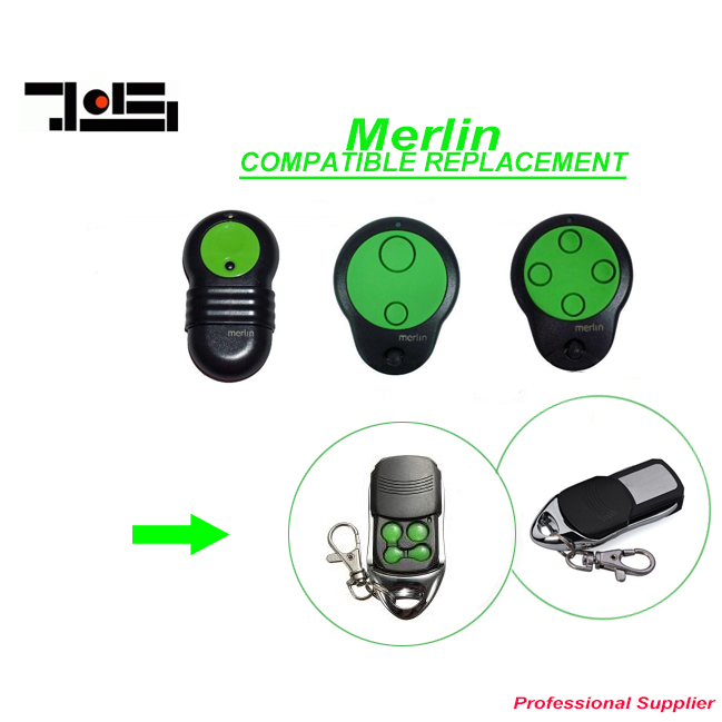 все цены на Merlin M842/M832/ M844 replacement Garage Door Remote Control 433mhz DHL free shipping онлайн