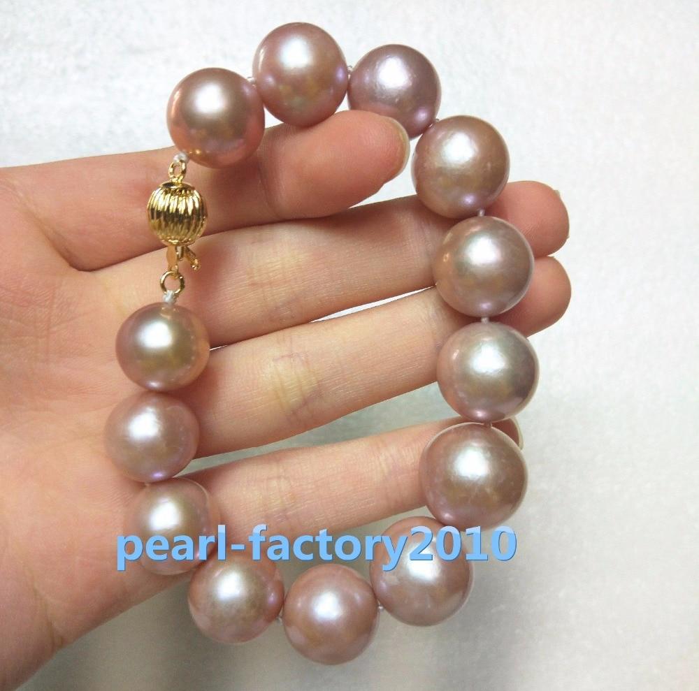 Продажи ювелирных изделий> огромный AAAA 16x13 мм Фиолетовый естественный ЮЖНОГО МОРЯ жемчужный браслет серьги набор