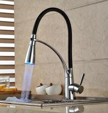 Сид Тянуть вниз смеситель для кухни привело кран Раковины кухонный кран кухонный кран pull out grifos led раковина смеситель смеситель для кухни