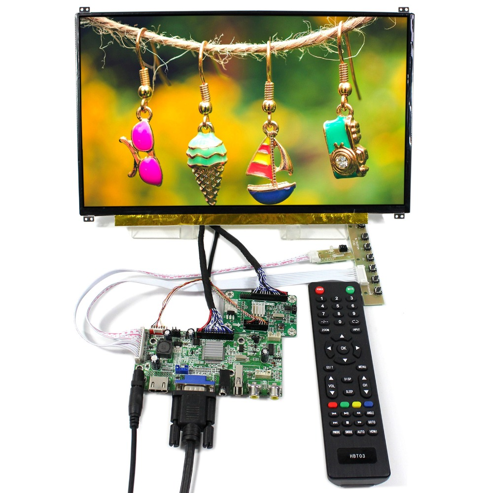 HDMI+VGA+AV+Audio+USB LCD Controller Board With 13.3inch 1920x1080 N133HSE IPS LCD Screen tv hdmi vga av usb audio lcd controller board 10 1b101aw06 1024x600 lcd screen