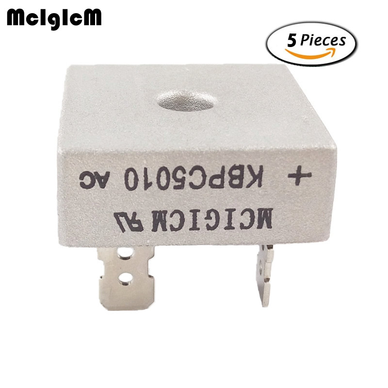 MCIGICM 5PCS 50A 1000V Diode Bridge Rectifier Kbpc5010