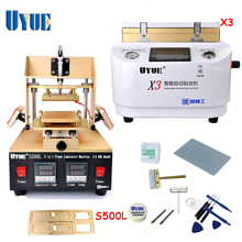 UYUE Mobile Phone Repair Machine Set OCA Vacuum Laminating Machine+5 In 1 Separator Machine  X3+S500L