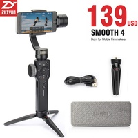 Zhiyun Smooth 4 3 Axis Handheld Gimbal Stabilizer Selfie Stick For IPhone X Gopro Hero 5