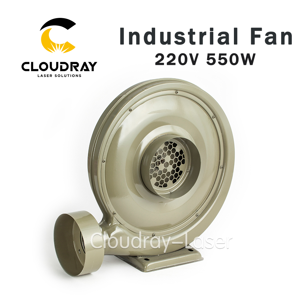 Cloudray 220V 550W Exhaust Fan Air Blower Centrifugal for CO2 Laser Engraving Cutting Machine Medium Pressure Lower Noise 550w laser exhaust dust and smoke blower