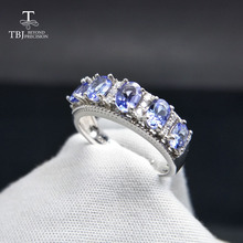 TBJ,Natural Good color 1.1ct Blue Tanzanite gemstone lady Ring in 925 sterling silver fine jewelry for girl best gift with box tbj feather gemstone ring with natural ethopian opal good fire in 925 sterling silver fine jewelry for girls with jewelry box