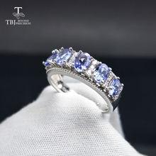 Женское кольцо с танзанитом голубого цвета tbj Ювелирное Украшение