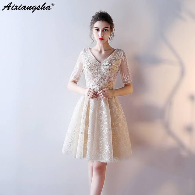 New Arrival Lace Celebrity Dresses Mini Scoop Tulle Illusion Style Cheap vestido  de festa 2018 Plus Size Red Carpet Dresses e3ab60504e12